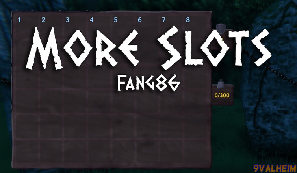 Using More slots mod to have more rows